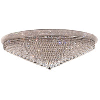 Elegant Lighting Primo 33 Light Flush Mount in Chrome with Swarovski Strass Clear Crystal 1802F48C/SS