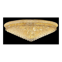 Elegant Lighting Primo 33 Light Flush Mount in Gold with Spectra Swarovski Clear Crystal 1802F48G/SA alternative photo thumbnail