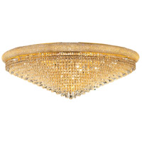 Elegant Lighting Primo 33 Light Flush Mount in Gold with Swarovski Strass Clear Crystal 1802F48G/SS