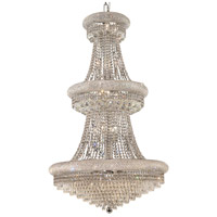 Elegant Lighting Primo 32 Light Foyer in Chrome with Royal Cut Clear Crystal 1802G30C/RC