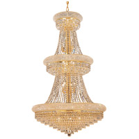 Elegant Lighting Primo 32 Light Foyer in Gold with Royal Cut Clear Crystal 1802G30G/RC