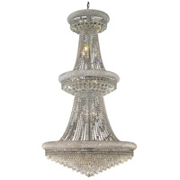 Elegant Lighting Primo 32 Light Foyer in Chrome with Swarovski Strass Clear Crystal 1802G36C/SS