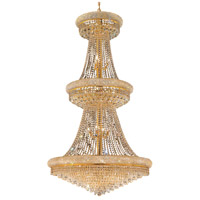 Elegant Lighting Primo 32 Light Foyer in Gold with Swarovski Strass Clear Crystal 1802G36G/SS