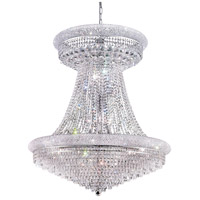Elegant Lighting Primo 28 Light Foyer in Silver and Clear Mirror with Elegant Cut Clear Crystal 1802G36SC/EC