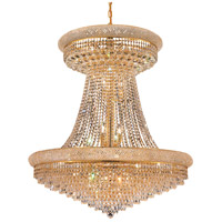 Elegant Lighting Primo 28 Light Foyer in Gold with Swarovski Strass Clear Crystal 1802G36SG/SS