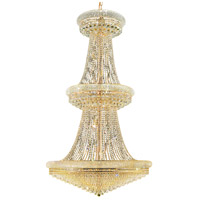 Elegant Lighting Primo 38 Light Foyer in Gold with Swarovski Strass Clear Crystal 1802G42G/SS