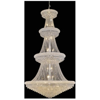 Elegant Lighting Primo 42 Light Foyer in Chrome with Swarovski Strass Clear Crystal 1802G48C/SS