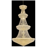 Elegant Lighting Primo 42 Light Foyer in Gold with Elegant Cut Clear Crystal 1802G48G/EC