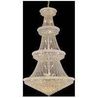 Elegant Lighting Primo 48 Light Foyer in Chrome with Swarovski Strass Clear Crystal 1802G54C/SS
