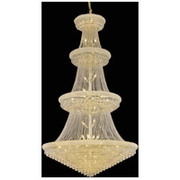 Elegant Lighting Primo 48 Light Foyer in Gold with Swarovski Strass Clear Crystal 1802G54G/SS