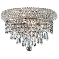 Elegant Lighting Primo 2 Light Wall Sconce in Chrome with Swarovski Strass Clear Crystal 1802W12C/SS