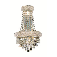 Elegant Lighting Primo 4 Light Wall Sconce in Silver and Clear Mirror with Royal Cut Clear Crystal 1802W12SC/RC alternative photo thumbnail
