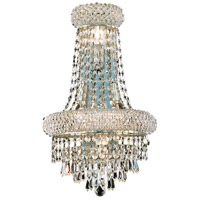 Elegant Lighting Primo 4 Light Wall Sconce in Silver and Clear Mirror with Swarovski Strass Clear Crystal 1802W12SC/SS photo thumbnail