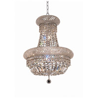 Elegant Lighting Primo 8 Light Dining Chandelier in Chrome with Elegant Cut Clear Crystal 1803D16C/EC