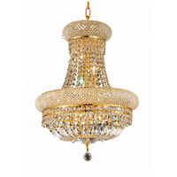 Elegant Lighting Primo 8 Light Dining Chandelier in Gold with Swarovski Strass Clear Crystal 1803D16G/SS