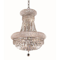 Elegant Lighting Primo 14 Light Dining Chandelier in Chrome with Royal Cut Clear Crystal 1803D20C/RC alternative photo thumbnail