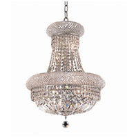 Elegant Lighting Primo 14 Light Dining Chandelier in Chrome with Royal Cut Clear Crystal 1803D20C/RC photo thumbnail