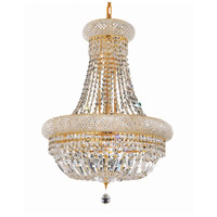 Elegant Lighting 1803D20G/RC Primo 14 Light 20 inch Gold Dining Chandelier Ceiling Light in Royal Cut photo thumbnail