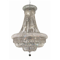 Elegant Lighting Primo 14 Light Dining Chandelier in Chrome with Elegant Cut Clear Crystal 1803D24C/EC