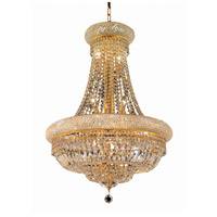 Elegant Lighting Primo 14 Light Dining Chandelier in Gold with Elegant Cut Clear Crystal 1803D24G/EC