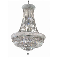 Elegant Lighting Primo 14 Light Dining Chandelier in Chrome with Swarovski Strass Clear Crystal 1803D28C/SS