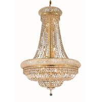 Elegant Lighting Primo 14 Light Dining Chandelier in Gold with Royal Cut Clear Crystal 1803D28G/RC alternative photo thumbnail