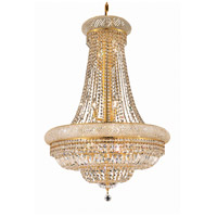 Elegant Lighting Primo 14 Light Dining Chandelier in Gold with Royal Cut Clear Crystal 1803D28G/RC photo thumbnail