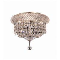 Elegant Lighting Primo 3 Light Flush Mount in Chrome with Royal Cut Clear Crystal 1803F10C/RC
