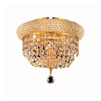Elegant Lighting Primo 3 Light Flush Mount in Gold with Royal Cut Clear Crystal 1803F10G/RC alternative photo thumbnail