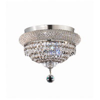 Elegant Lighting Primo 4 Light Flush Mount in Chrome with Elegant Cut Clear Crystal 1803F12C/EC