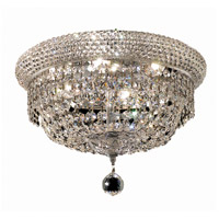 Elegant Lighting Primo 6 Light Flush Mount in Chrome with Royal Cut Clear Crystal 1803F14C/RC