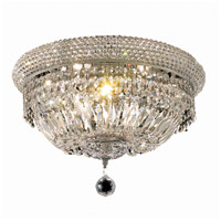 Elegant Lighting Primo 8 Light Flush Mount in Chrome with Swarovski Strass Clear Crystal 1803F16C/SS