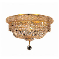 Elegant Lighting Primo 8 Light Flush Mount in Gold with Swarovski Strass Clear Crystal 1803F16G/SS