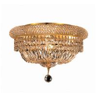 Elegant Lighting Primo 8 Light Flush Mount in Gold with Swarovski Strass Clear Crystal 1803F16G/SS photo thumbnail