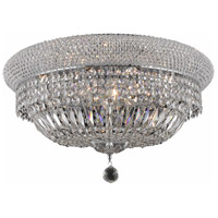 Primo 10 Light 20 inch Chrome Flush Mount Ceiling Light in Royal Cut
