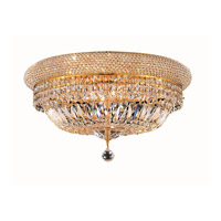 Elegant Lighting 1803F20G/SA Primo 10 Light 20 inch Gold Flush Mount Ceiling Light in Spectra Swarovski alternative photo thumbnail