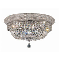 Elegant Lighting Primo 12 Light Flush Mount in Chrome with Swarovski Strass Clear Crystal 1803F24C/SS