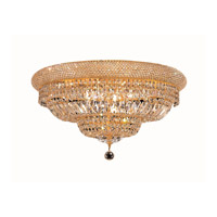 Elegant Lighting Primo 12 Light Flush Mount in Gold with Royal Cut Clear Crystal 1803F24G/RC alternative photo thumbnail