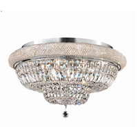 Elegant Lighting Primo 15 Light Flush Mount in Chrome with Swarovski Strass Clear Crystal 1803F28C/SS