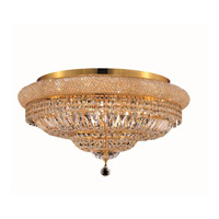 Elegant Lighting 1803F28G/SA Primo 15 Light 28 inch Gold Flush Mount Ceiling Light in Spectra Swarovski alternative photo thumbnail