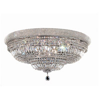 Elegant Lighting Primo 20 Light Flush Mount in Chrome with Swarovski Strass Clear Crystal 1803F36C/SS