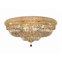 Elegant Lighting Primo 20 Light Flush Mount in Gold with Swarovski Strass Clear Crystal 1803F36G/SS