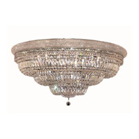 Elegant Lighting 1803F42C/SA Primo 30 Light 42 inch Chrome Flush Mount Ceiling Light in Spectra Swarovski alternative photo thumbnail
