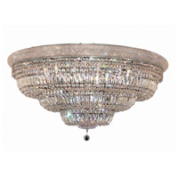 Elegant Lighting Primo 30 Light Flush Mount in Chrome with Swarovski Strass Clear Crystal 1803F42C/SS