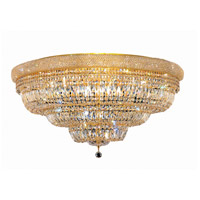 Elegant Lighting Primo 30 Light Flush Mount in Gold with Elegant Cut Clear Crystal 1803F42G/EC