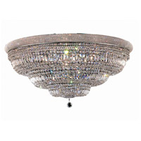 Elegant Lighting Primo 33 Light Flush Mount in Chrome with Swarovski Strass Clear Crystal 1803F48C/SS