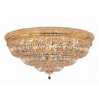 Elegant Lighting Primo 33 Light Flush Mount in Gold with Swarovski Strass Clear Crystal 1803F48G/SS