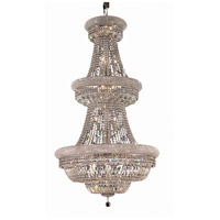 Elegant Lighting Primo 32 Light Foyer in Chrome with Swarovski Strass Clear Crystal 1803G30C/SS