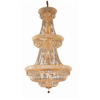 Elegant Lighting Primo 32 Light Foyer in Gold with Swarovski Strass Clear Crystal 1803G30G/SS