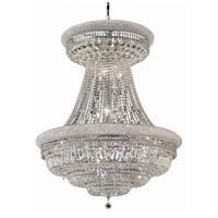 Elegant Lighting Primo 28 Light Foyer in Silver and Clear Mirror with Elegant Cut Clear Crystal 1803G36SC/EC
